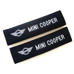 Mini Cooper Logo Car Seat Belt Shoulder Pads(2 Pcs Set) Automotive