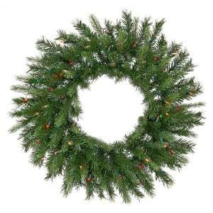 Spruce Artificial Christmas Wreath   Multi Lights