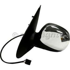 Door Mirror, Power, Heated, W/O Signal, Chrome, Drivers Side