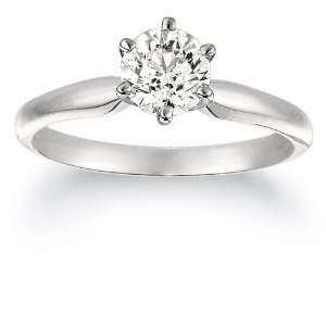 . TDW GIA Certified Solitaire Ring With a Round Brilliant cut Diamond