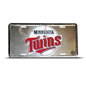 Minnesota Twins Mlb Metal Sport License Plate Wall Sign