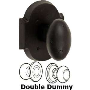 Double dummy sandcast brass egg knob with sandcast brass