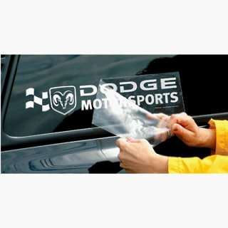 Dodge Motorsports 4x16 Die Cut Decal