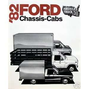 1982 Ford Chassis Cabs vehicle brochure