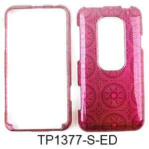 CELL PHONE CASE COVER FOR HTC EVO 3D TRANS HOT PINK