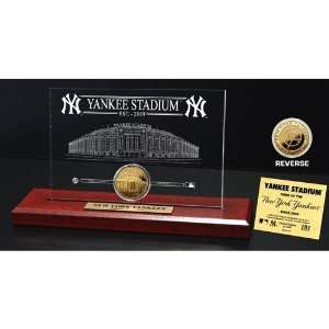 Highland Mint MLB New York Yankees Yankee Stadium Gold