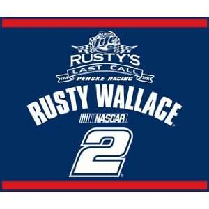 NASCAR Rusty Wallace 60X50 Race Day Blanket/Throw   Auto