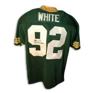 Reggie White Green Bay Packers Autographed Jersey with Minister of