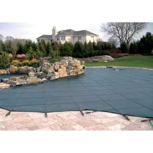 Solid Safety Pool Cover with Mesh Drain Panels Patio, Lawn & Garden