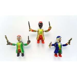 Gun Pirate   Refrigerator Bobble Magnet (Set of 3)
