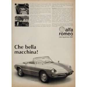 1967 Alfa Romeo Duetto SPIDER Sports Car Pininfarina Ad