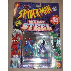 Spiderman Vs. Lizard Die Cast Metal Poseable Figures Toys & Games