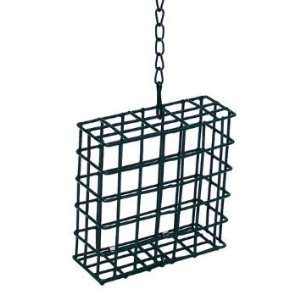 PE Coated Steel Suet Holder Wild Bird Feeder Patio, Lawn & Garden