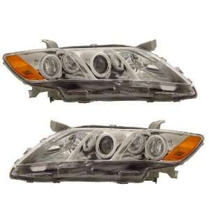 2009 Toyota Camry KS Chrome CCFL Halo Projector Headlights Automotive