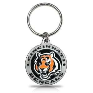 NFL Cincinnati Bengals Logo Metal Key Chain, Official