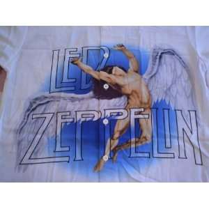 LED ZEPPELIN Dragonfly White Swan Song Flying Angel LP CD Logo Casual