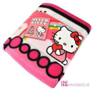 NWT Sanrio HELLO KITTY Birthday Cake Plush THROW Pink Large FLEECE Bed