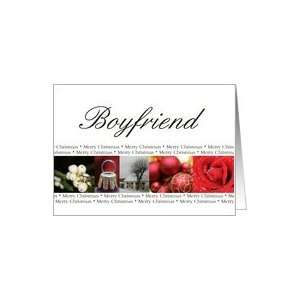 Boyfriend Merry Christmas red, black & white Winter collage christmas
