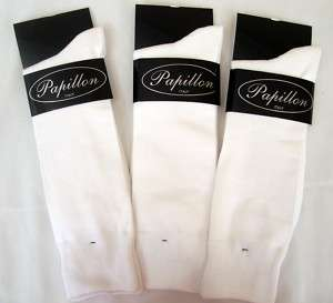 Mens White Cotton Dress Socks 3 pair Dress Socks