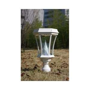 Gama Sonic USA GS 94F WHI Solar Lamp Post Patio, Lawn & Garden